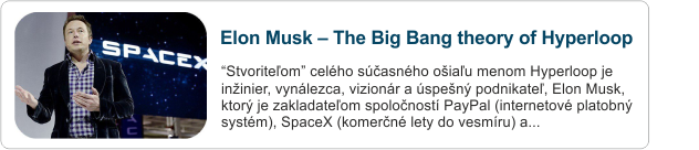 elon musk hyperloop alpha The Big Bang theory of Hyperloop článok